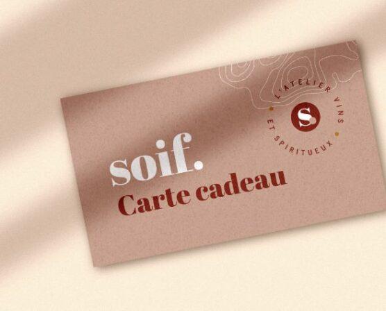 Carte cadeau   Soif.   Ateliers dégustation, vente de vins et spiritueux à Limoges
